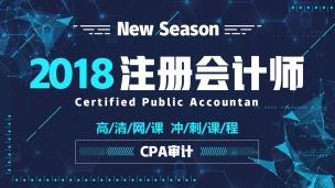 2018CPA高清冲刺课——审计
