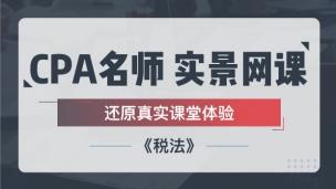 2019CPA实景网课——税法