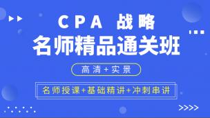 CPA名師精品通關班 公司戰略與風險管理