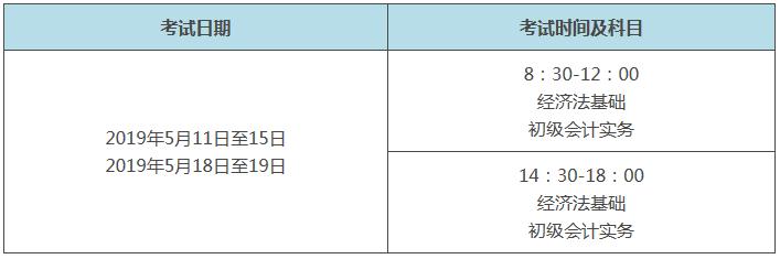 河南省初级会计师考试时间是什么时候?