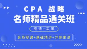 CPA名师精品通关班 公司战略与风险管理