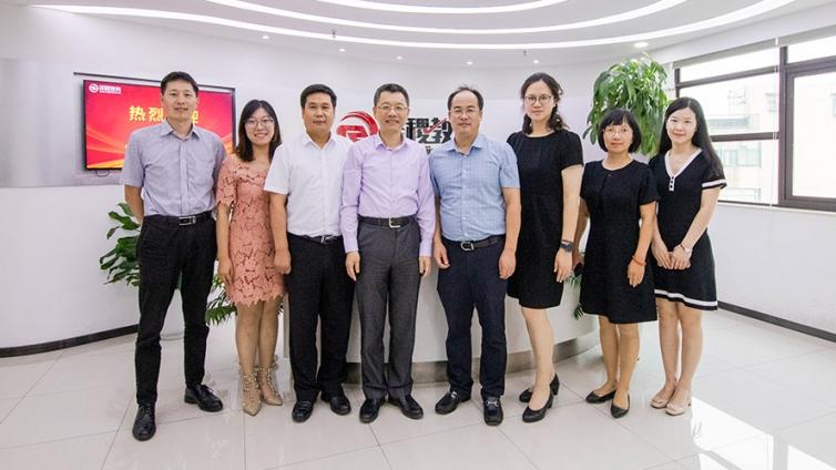 热烈欢迎上海海事大学校长陆靖教授一行莅临泽稷教育指导工作