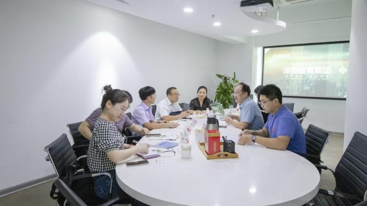 热烈欢迎上海市杨浦区科委副主任陈柏霖一行赴泽稷教育走访调研