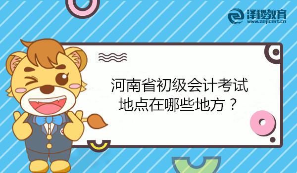 河南省初级会计考试地点在哪些地方?