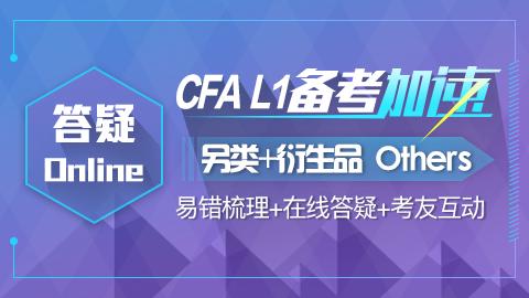 CFA答疑online-另类+衍生品