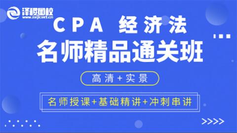 CPA名师精品通关班 经济法
