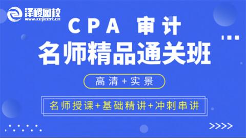 CPA名师精品通关班 审计