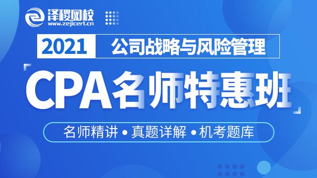 CPA名师精讲特惠班 公司战略与风险管理