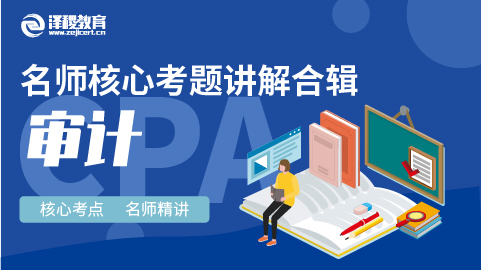 CPA名师核心考题讲解合辑 审计