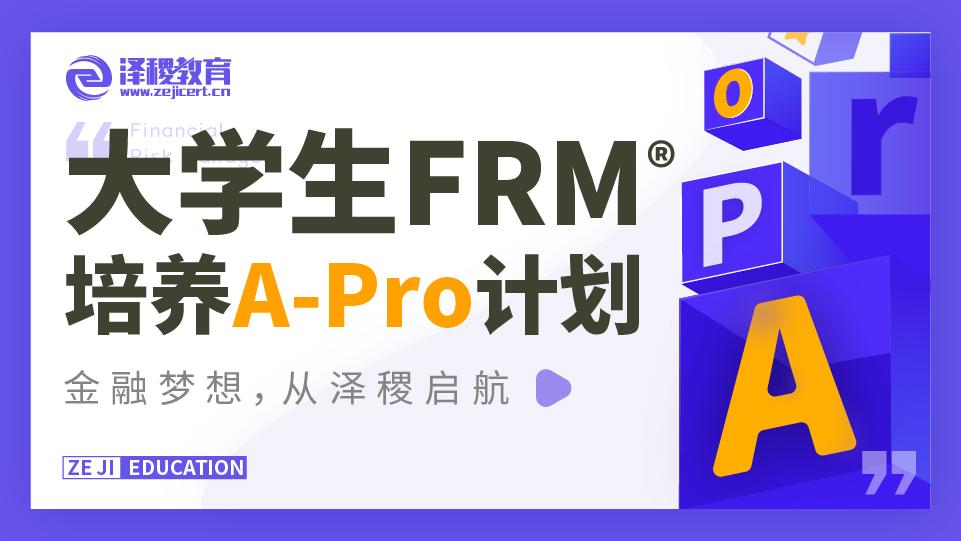 大学生 FRM 培养计划